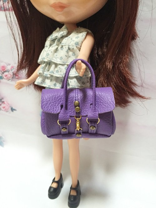 Purple Fashion Handbag for Blythe/Barbie/Pullip/Licca Doll
