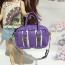 Purple With White Fashion Bag For Blythe/Barbie/Pullip Doll