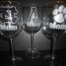 Hand-Etched Wine Glass