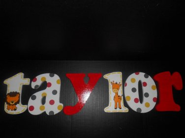 Hand-Painted Hanging Letters