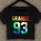 ariana grande shirt ariana grande crop top ariana grande crop tee grande 93 logo AG 03