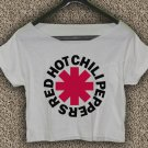 Red Hot Chili Peppers T-shirt Red Hot Chili Peppers Crop Top Logo RHCP 02