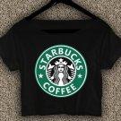 Starbucks Coffee T-shirt Starbucks Coffee Crop Top Starbucks Coffee Crop Tee SC#01