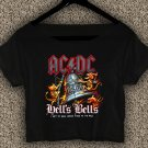 AC DC  T-shirt AC DC Rock Or Bust Tour Crop Top AC DC Rock Or Bust Tour Crop Tee AC#01