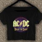 AC DC  T-shirt AC DC Rock Or Bust Tour Crop Top AC DC Rock Or Bust Tour Crop Tee AC#02