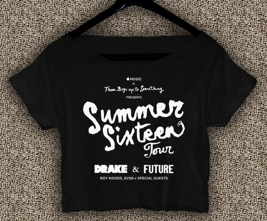 DRAKE Summer Sixteen T-shirt DRAKE Summer Sixteen Crop Top DRAKE Crop Tee DS#01