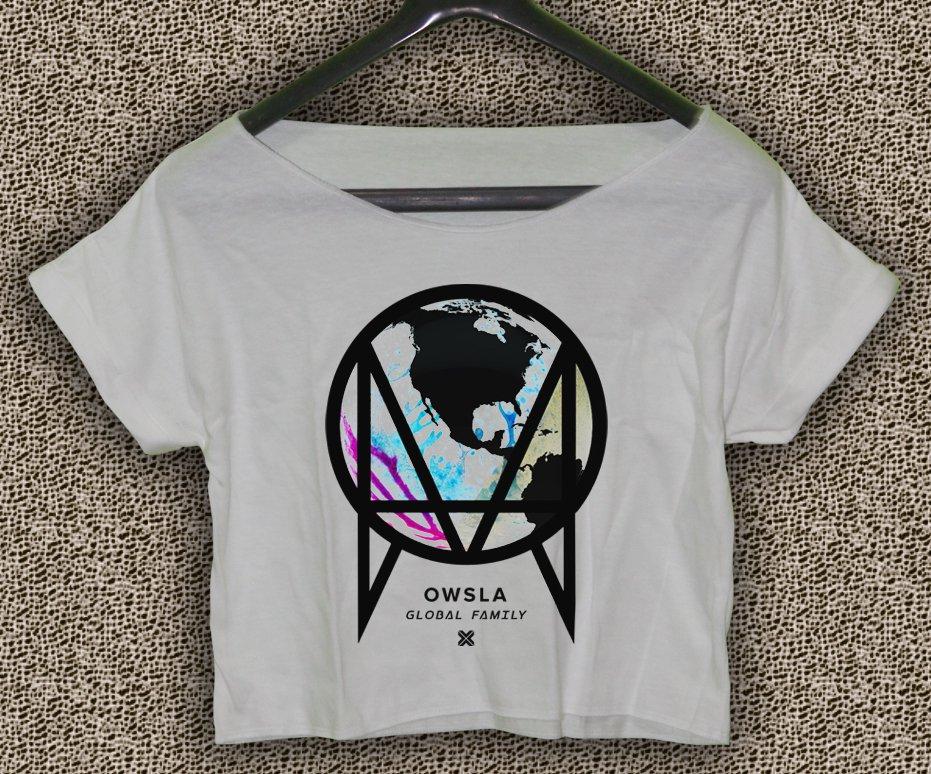 OWSLA Music T-shirt OWSLA Music Crop Top Skrillex Dubstep Trap Crop Tee OS#01
