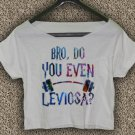 Harry Potter T-shirt Bro Do You Even Leviosa Crop Top Harry Potter Crop Tee HPC#02