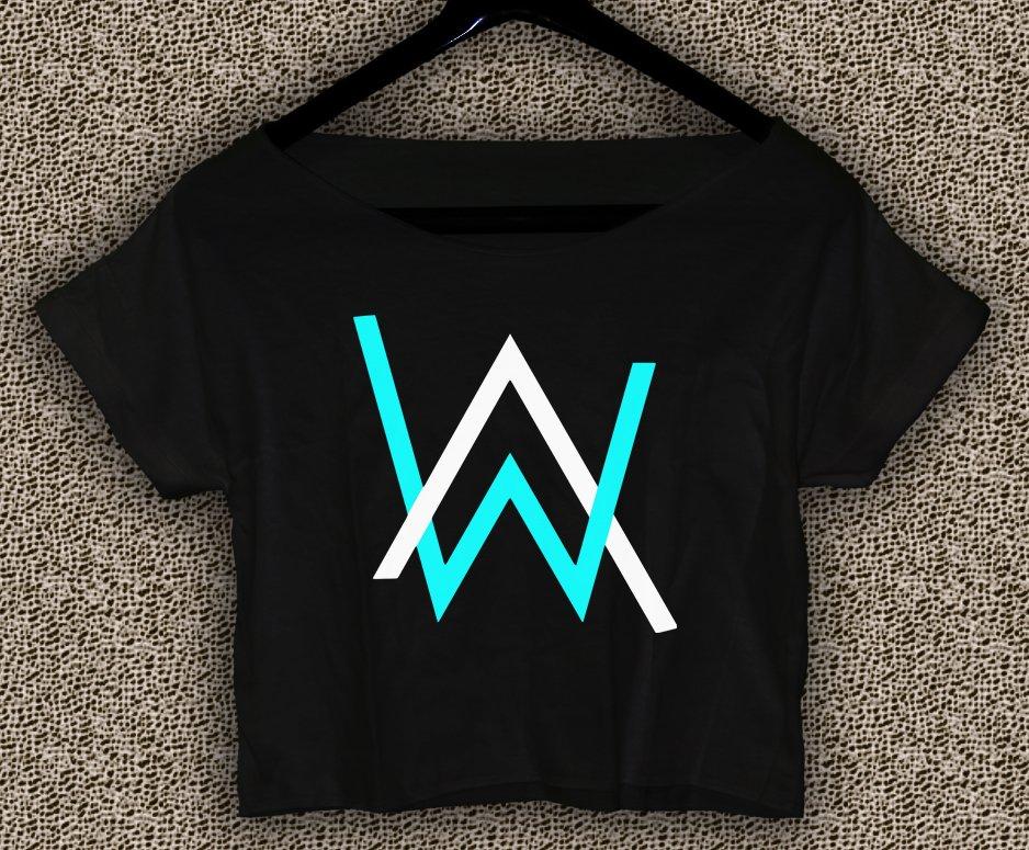 Alan Walker Faded T-shirt Electronic Music DJ Crop Top Divine Comedy Crop Tee AW#01