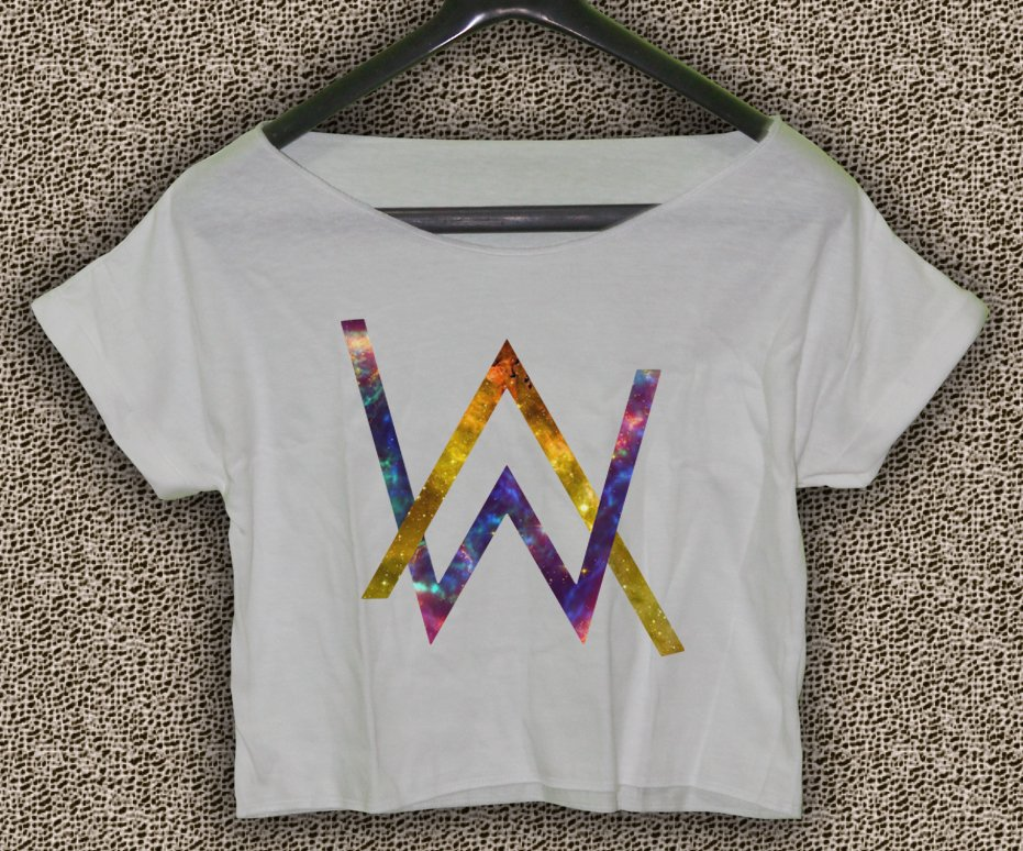 Alan Walker Faded T-shirt Electronic Music DJ Crop Top Divine Comedy Crop Tee AW#02