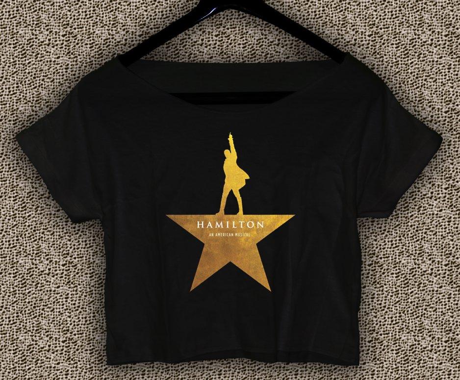 Hamilton American Musical Broadway T-shirt Hamilton Crop Top Hamilton Crop Tee HM#01