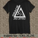 Gracie Jiu-Jitsu Classic Academy Shirt Gracie Jiu-Jitsu T Shirt Size : S,M,L,XL,2XL GJJ01
