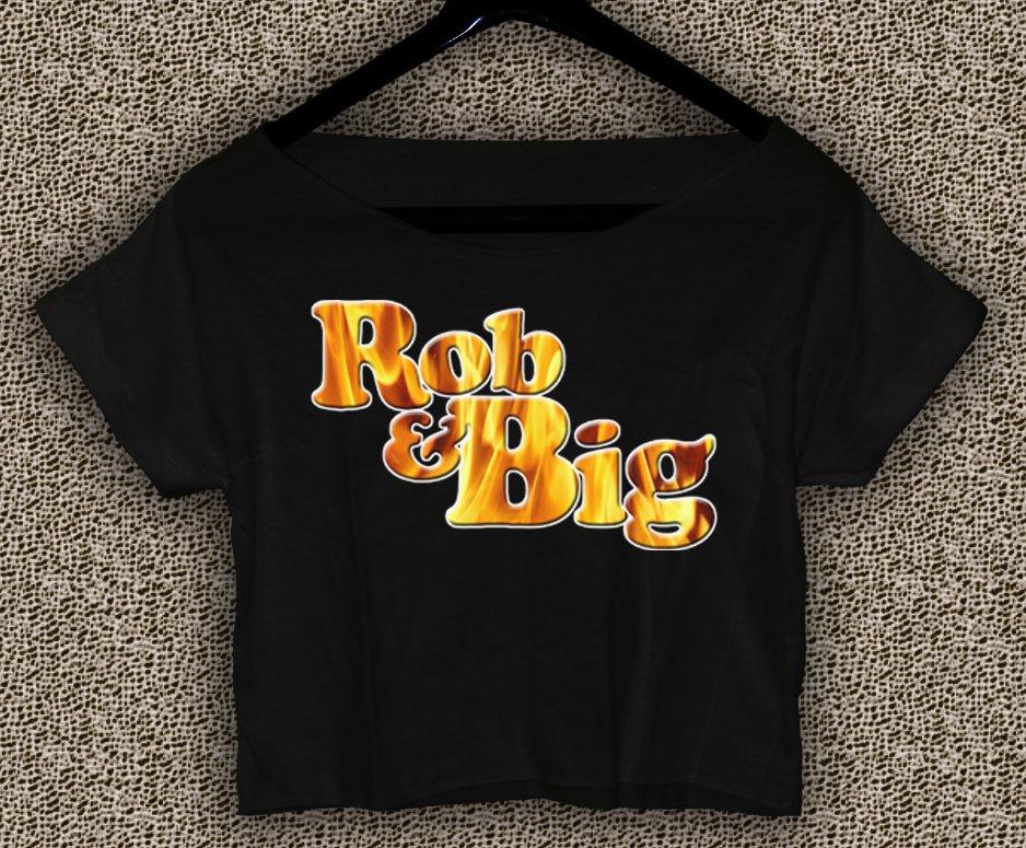 Rob & Big star Christopher Boykin T-shirt Rob & Big Crop Top Navy Big Black UFC Logo Crop Tee RB#01