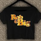 Rob & Big star Christopher Boykin T-shirt Rob & Big Crop Top Navy Big Black UFC Logo Crop Tee RB#01