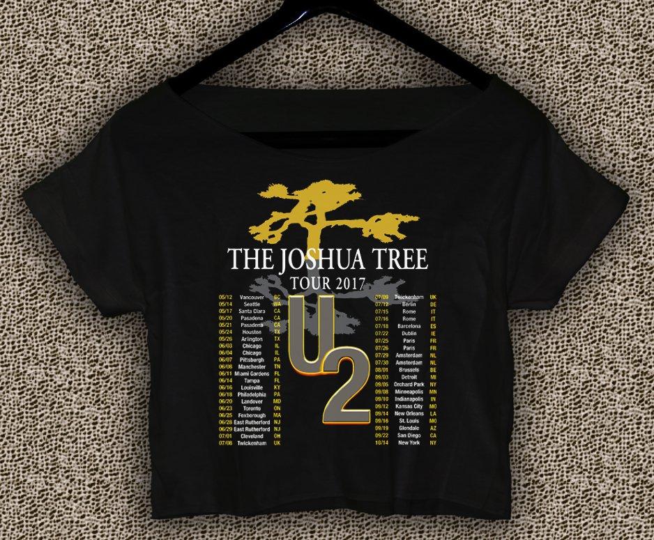U2 The Joshua Tree Tour 2017 T-shirt U2 The Joshua Tree Crop Top U2 The Joshua Tree Crop Tee TJT#03