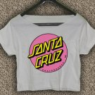 Santa Cruz Crus Skateboards T-shirt Santa Cruz Crus Crop Top Santa Cruz Crus Skateboards Crop Tee 1