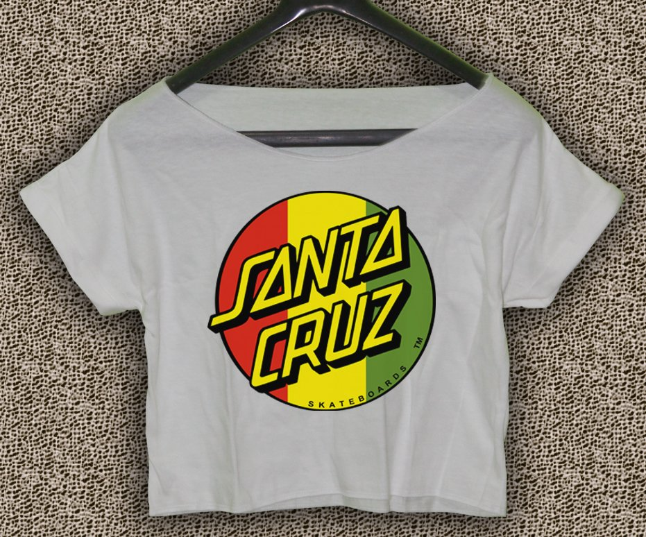 Santa Cruz Crus Skateboards T-shirt Santa Cruz Crus Crop Top Santa Cruz Crus Skateboards Crop Tee 2