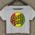 Santa Cruz Crus Skateboards T-shirt Santa Cruz Crus Crop Top Santa Cruz Crus Skateboards Crop Tee 2