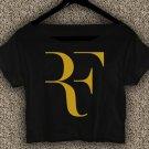 ROGER FEDERER RF Logo T-Shirt ROGER FEDERER RF Logo Crop Top ROGER FEDERER Crop Tee RF#01