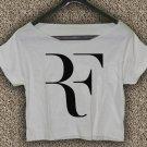 ROGER FEDERER RF Logo T-Shirt ROGER FEDERER RF Logo Crop Top ROGER FEDERER Crop Tee RF#02