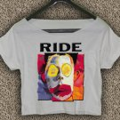 Ride Band Going Blank Again T-Shirt Ride Band Going Blank Again Crop Top Ride Crop Tee RG#02