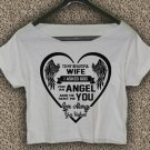 Valentines Day T-Shirt To my wife Crop Top Valentines Day Crop Tee VD#03