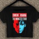 Eminem x Rihanna T-Shirt Monster Tour Crop Top Eminem x Rihanna Crop Tee ER01