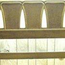QUEEN BED BROWN WOOD HEADBOARD Iron Metal Frame Vintage 1960s: LOOKS NEW