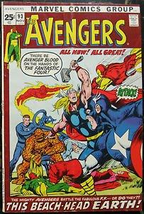 AVENGERS# 93 Nov 1971 Ant-Man Ultron N Adams Cov/Art Bronze KEY: 7.0 FN-VF