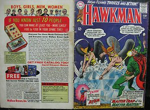 HAWKMAN# 9 Aug-Sep 1965 Murphy Anderson Cover ORIGINAL FULL COVERS ONLY! Silver