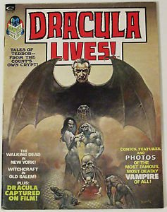 DRACULA LIVES!# 1 1973 B&W Mag Boris Vallejo Painted Cover ORIG OWNER: 9.0 VF-NM