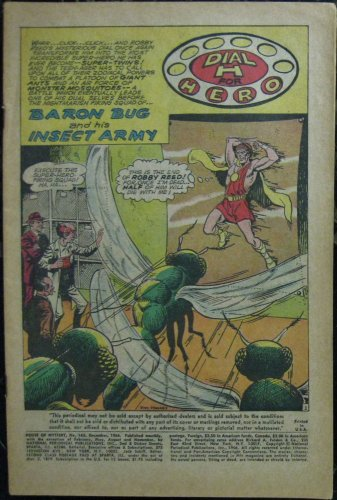 HOUSE OF MYSTERY# 163 Dec 1966 Dial H for Hero Martian Manhunter COVERLESS SA