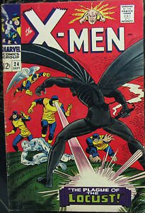 X-MEN# 24 Sept 1966 1st Locust/Origin Werner Roth Cover/Art Silver Age: 6.0 FN