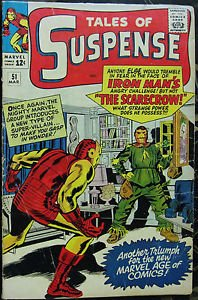 TALES OF SUSPENSE# 51 Mar 1964 1st Scarecrow Kirby Heck Art Silver KEY: 5.5 FN-