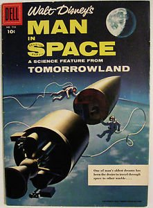 FOUR COLOR# 716 Aug 1956 WALT DISNEY'S MAN IN SPACE VARIANT EDITION: 9.0 VF-NM