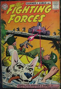 OUR FIGHTING FORCES# 75 Apr 1963 Gunner and Sarge Kubert Cov Silver Age: 6.0 FN