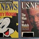 US NEWS & WORLD REPORT LOT AUG 14 & AUG 21 1995 DISNEY & COLIN POWELL: VG/VF-NM