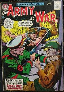OUR ARMY AT WAR# 138 Jan 1964 Sgt Rock 1st Sparrow Kubert Cov/Art SA KEY: 6.0 FN