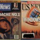 US NEWS &WORLD REPORT LOT NOV 23 1992 & AUG 7 1995 CLINTON HEALTHCARE WINDOWS 95