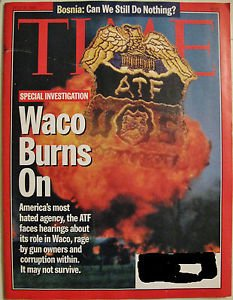 TIME MAGAZINE JULY 24 1995 7/24/95 WACO BURNS ON,BOSNIA,NEW FORM OF MATTER:VF/NM