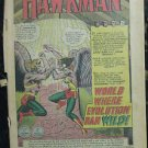 HAWKMAN LOT# 6,13 Feb/Mar 1965-Apr/May 1966 Anderson Art COVERLESS COUPON CUT SA