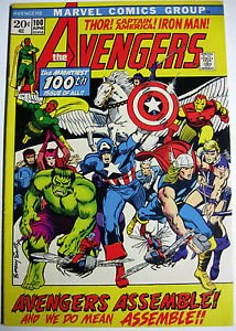 AVENGERS# 100 June 1972 Appear of every Avenger Barry Smith Cover/Art: 9.2 NM-