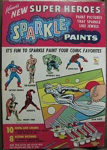 KENNER�S MARVEL SUPERHEROES SPARKLE PAINTS SET#253H 1967 MARVELMANIA:EXCEPTIONAL