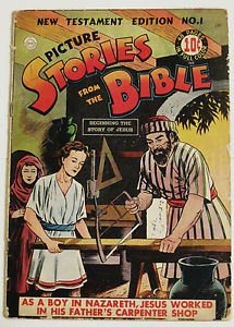 PICTURE STORIES FROM THE BIBLE COMICS# 1 NEW TESTAMENT Aug 1944 DC: 6.5 FN+