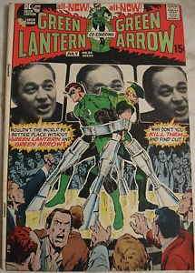 GREEN LANTERN# 84 Jun-July 1971 Green Arrow Neal Adams Cover/Art Bronze: 6.0 FN