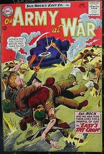 OUR ARMY AT WAR# 143 Jun 1964 Sgt Rock Joe Kubert Cov/Art Silver Age: 7.0 FN-VF