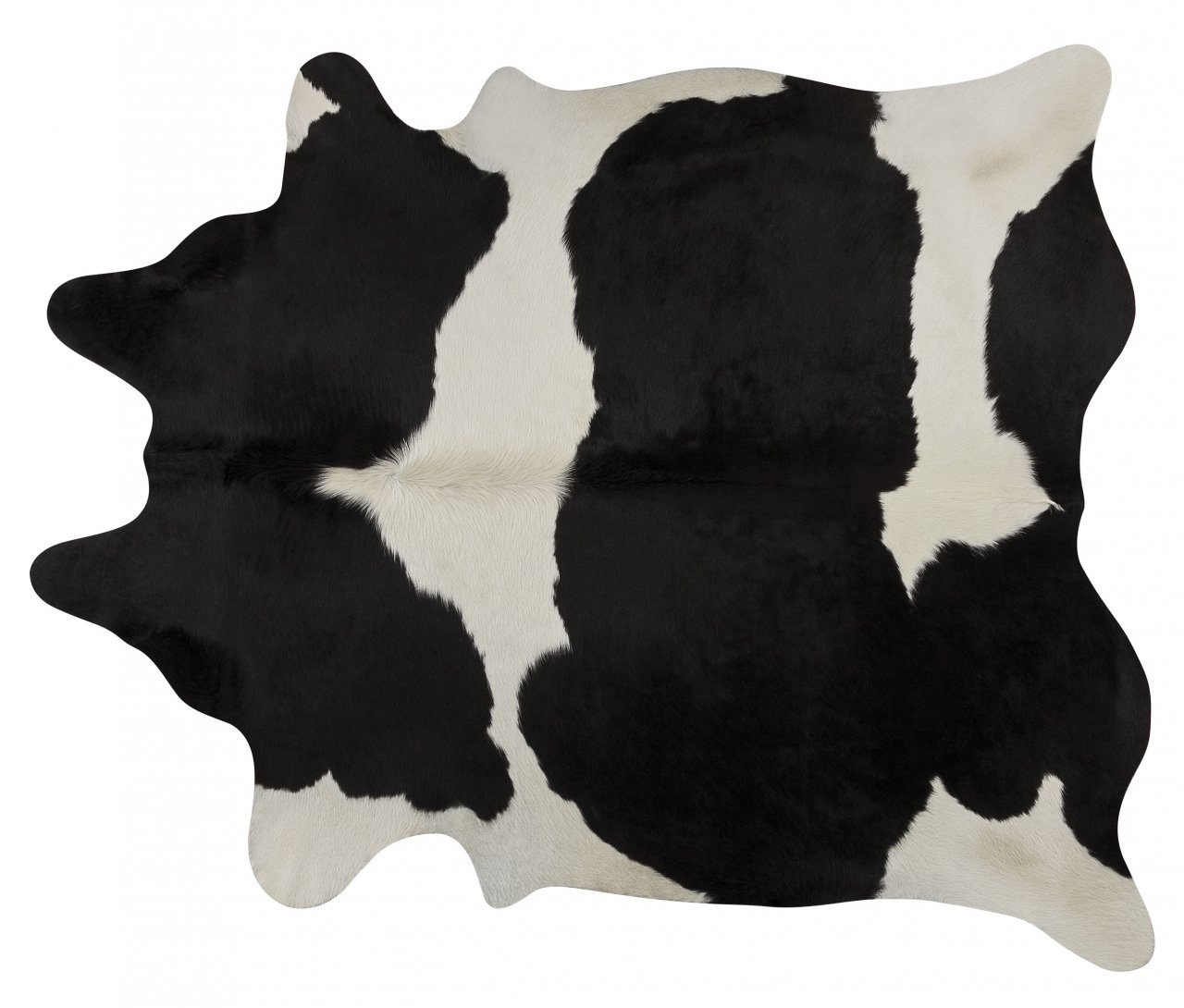 Black and White Brazilian Cowhide Rug Cow Hide Area Rugs - Size XXL