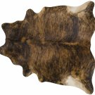 Medium Brindle Brazilian Cowhide Area Rug - Size LARGE