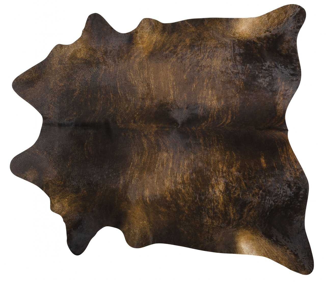 Dark Brindle Brazilian Cowhide Rug Cow Hide Area Rugs - Size XXL