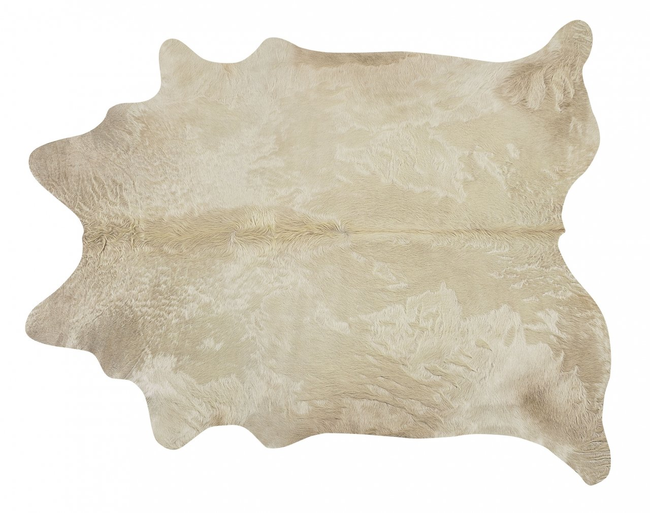 Champagne Brazilian Cowhide Rug Cow Hide Area Rugs - Size XL